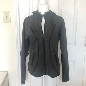 Athleta Gray/Black Zip Up Hoodie SZ Medium